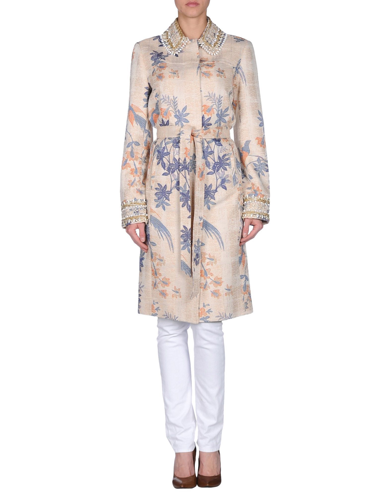 Tory burch full length jacket in natural lyst for Tory burch fashion island