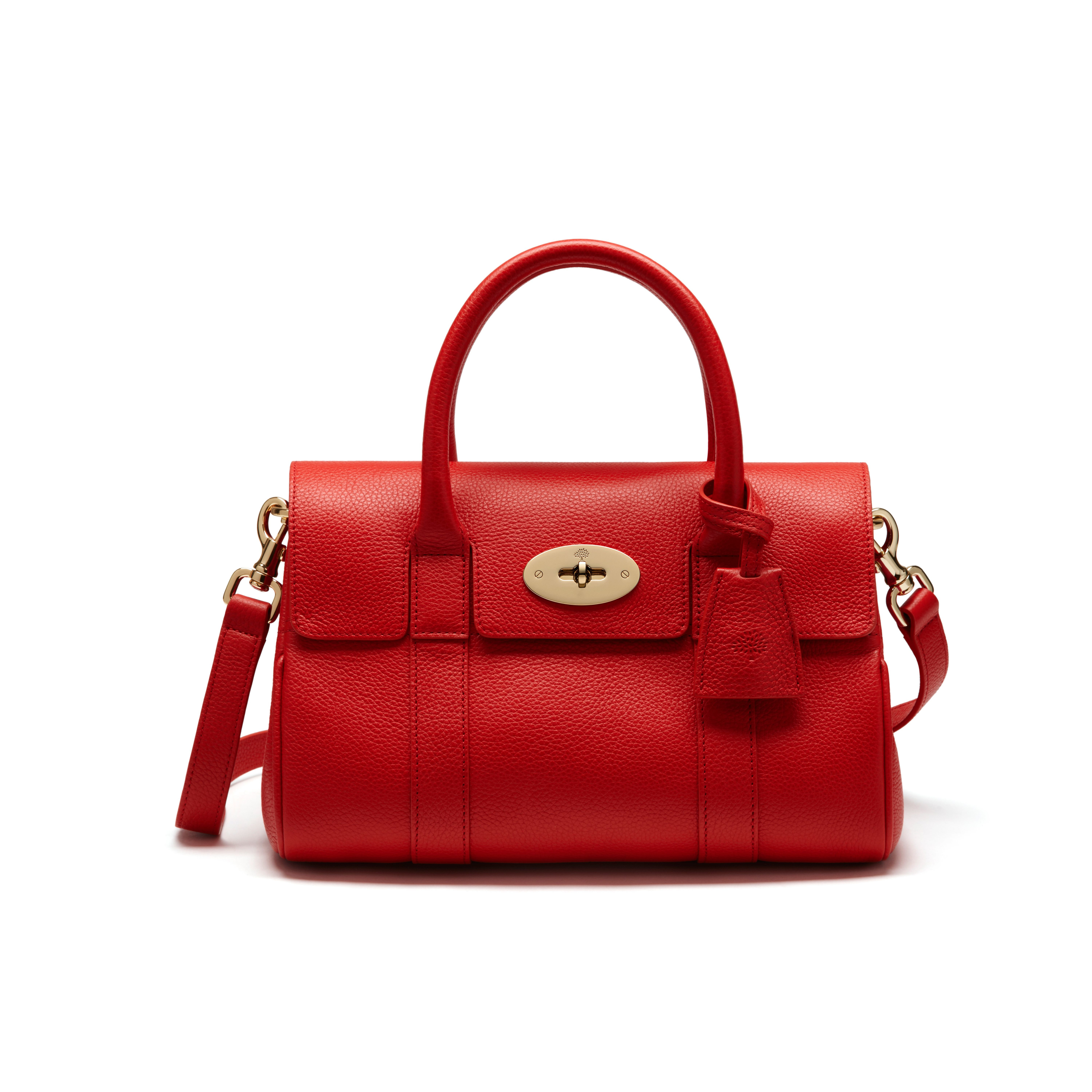 Mulberry small bayswater satchel in red lyst for The bayswater