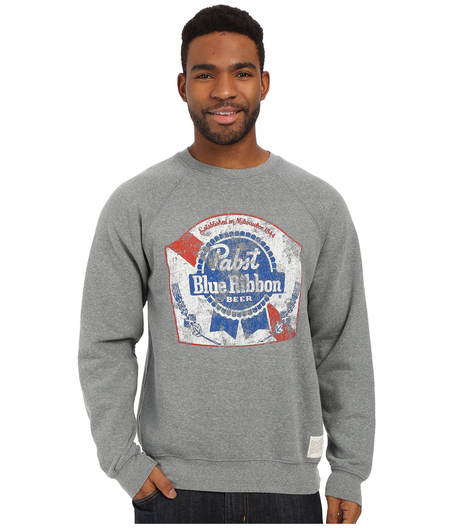 Lyst The Original Retro Brand Fleece Crew Neck Pabst Blue Ribbon