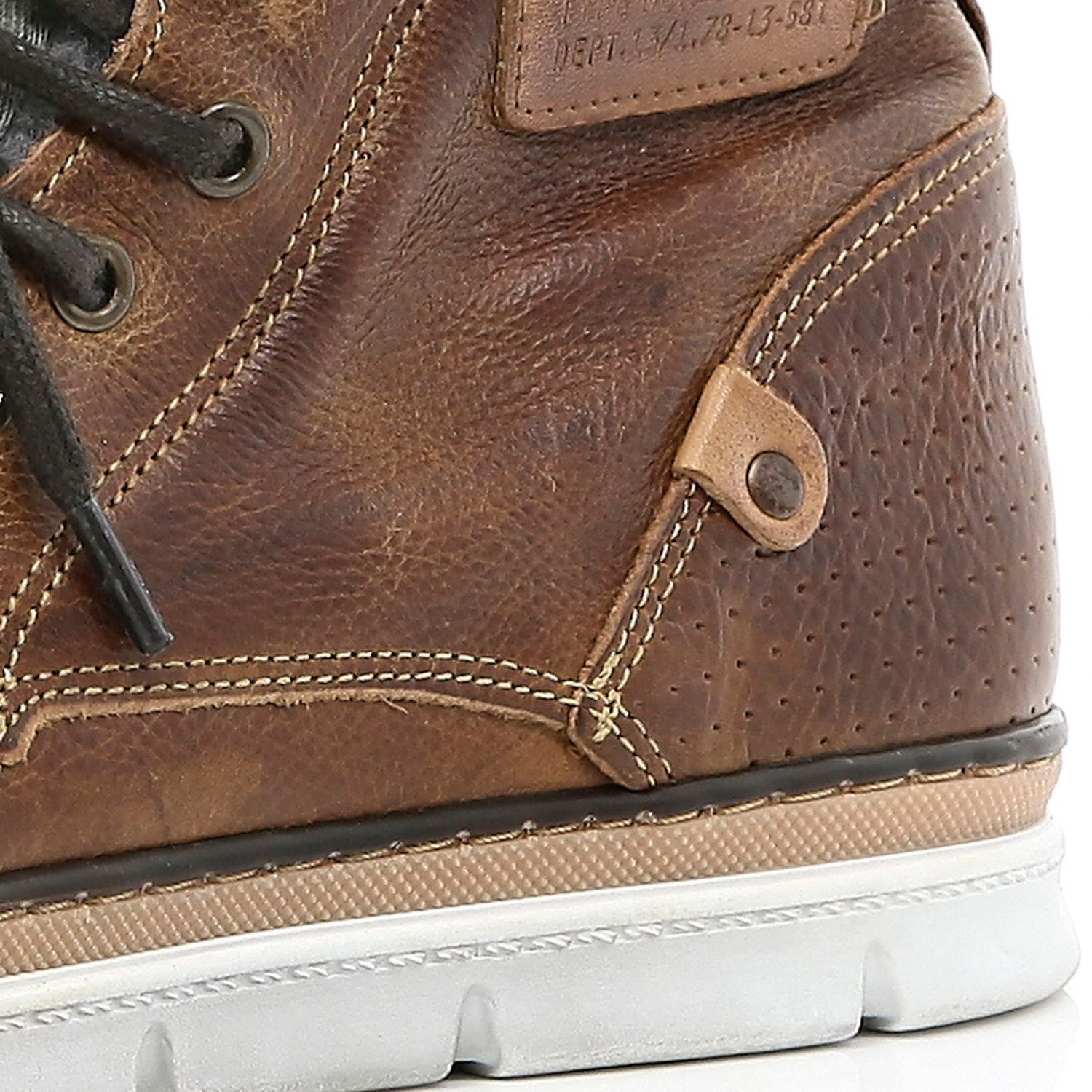 40feebfeb3a River Island Brown Contrast Panel Chunky Sole Boots for Men - Lyst
