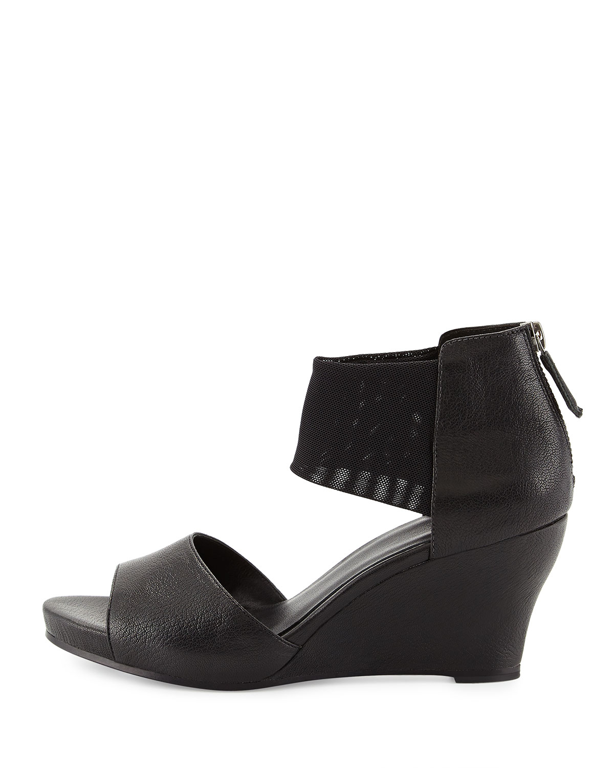 Lyst Eileen Fisher Corona Mid Wedge Ankle Cuff Sandal In