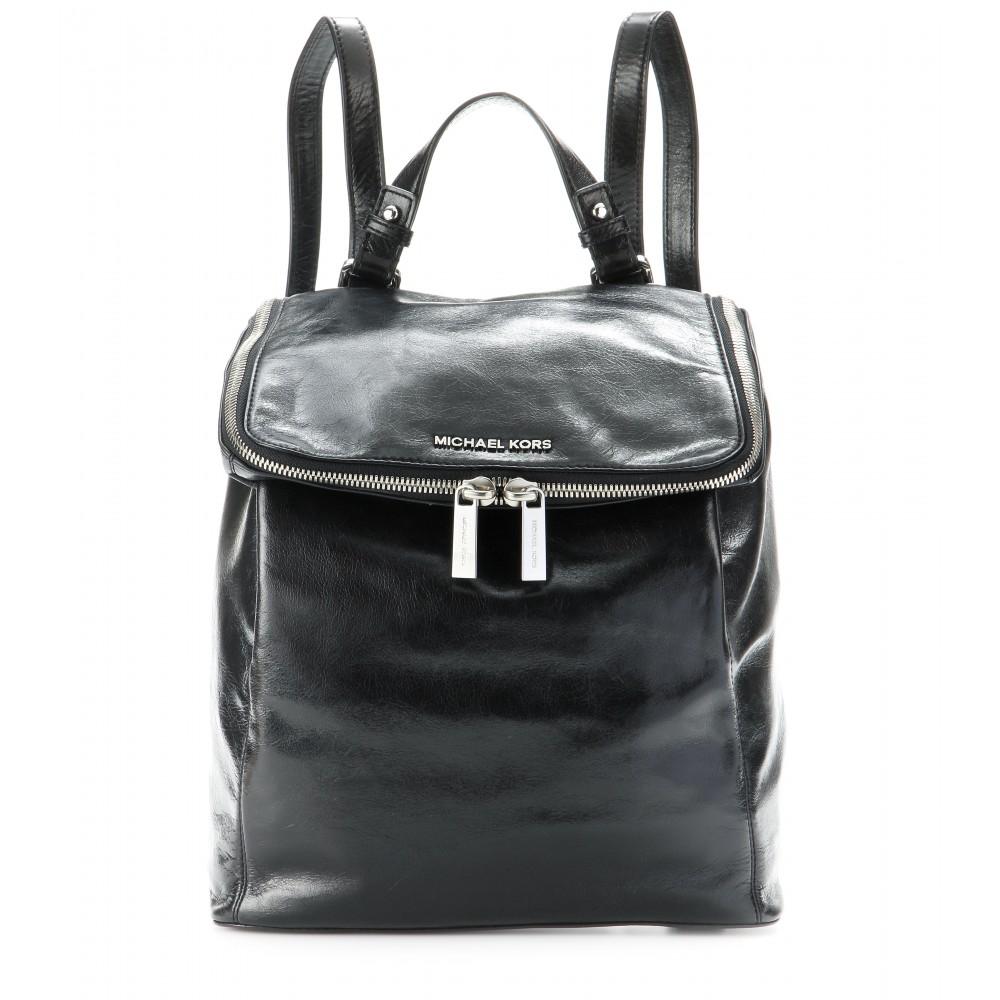9024e1a7e64e MICHAEL Michael Kors Lisbeth Leather Backpack in Black - Lyst