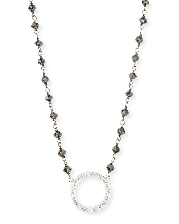 Rina Limor Twilight Open Circle Diamond Pendant Necklace