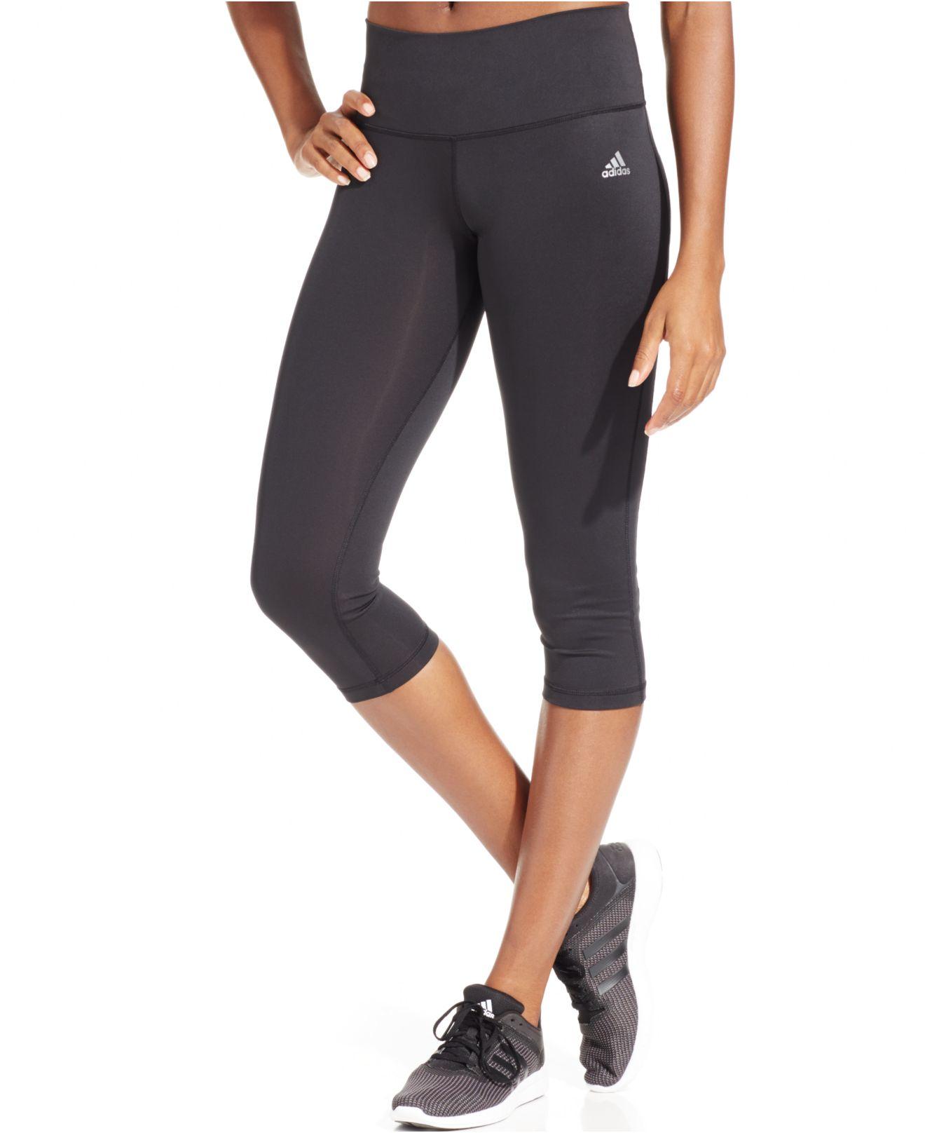 Adidas Performer Cropped Leggings in Black | Lyst
