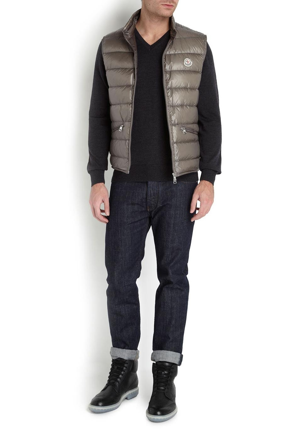 ac56c4fb2 Moncler Grey Quilted Shell Gilet in Gray for Men - Lyst