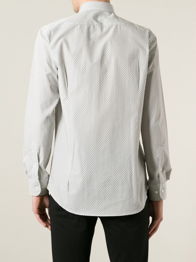 Lyst etro paisley print shirt in white for men for Etro men s shirts