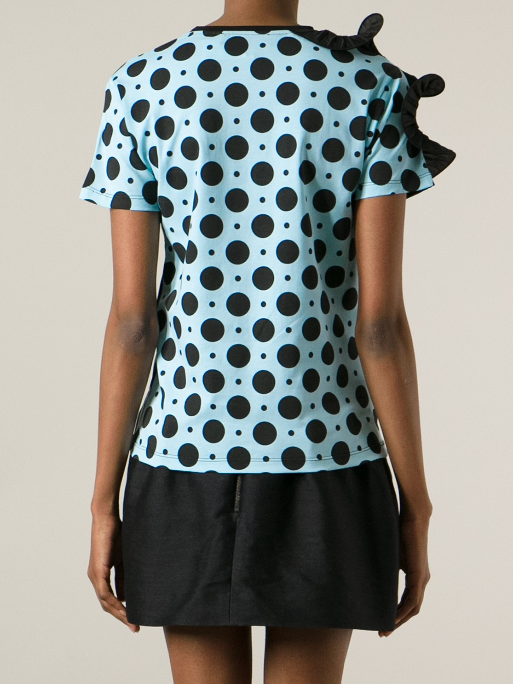 Emanuel ungaro striped polka dot top in green lyst for Striped and polka dot pumpkins