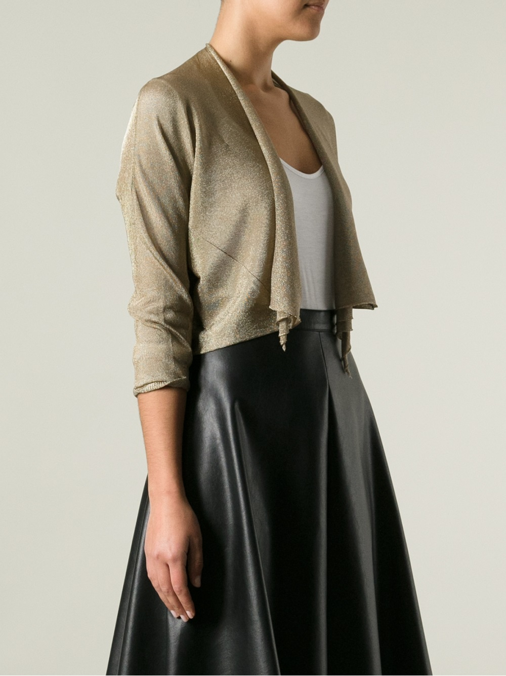 Twin set Open Front Cardigan in Natural | Lyst