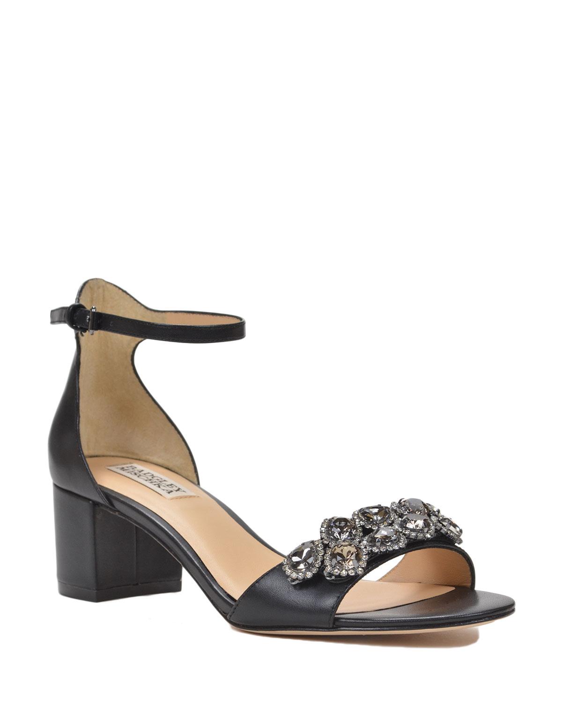 badgley mischka clove embellished ankle shoe in