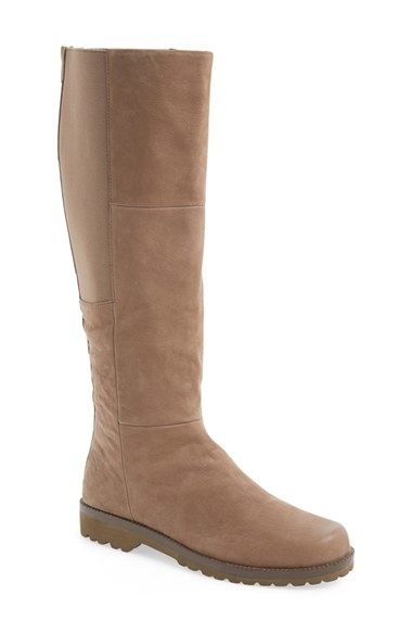 gentle souls winfield leather knee high boots in beige