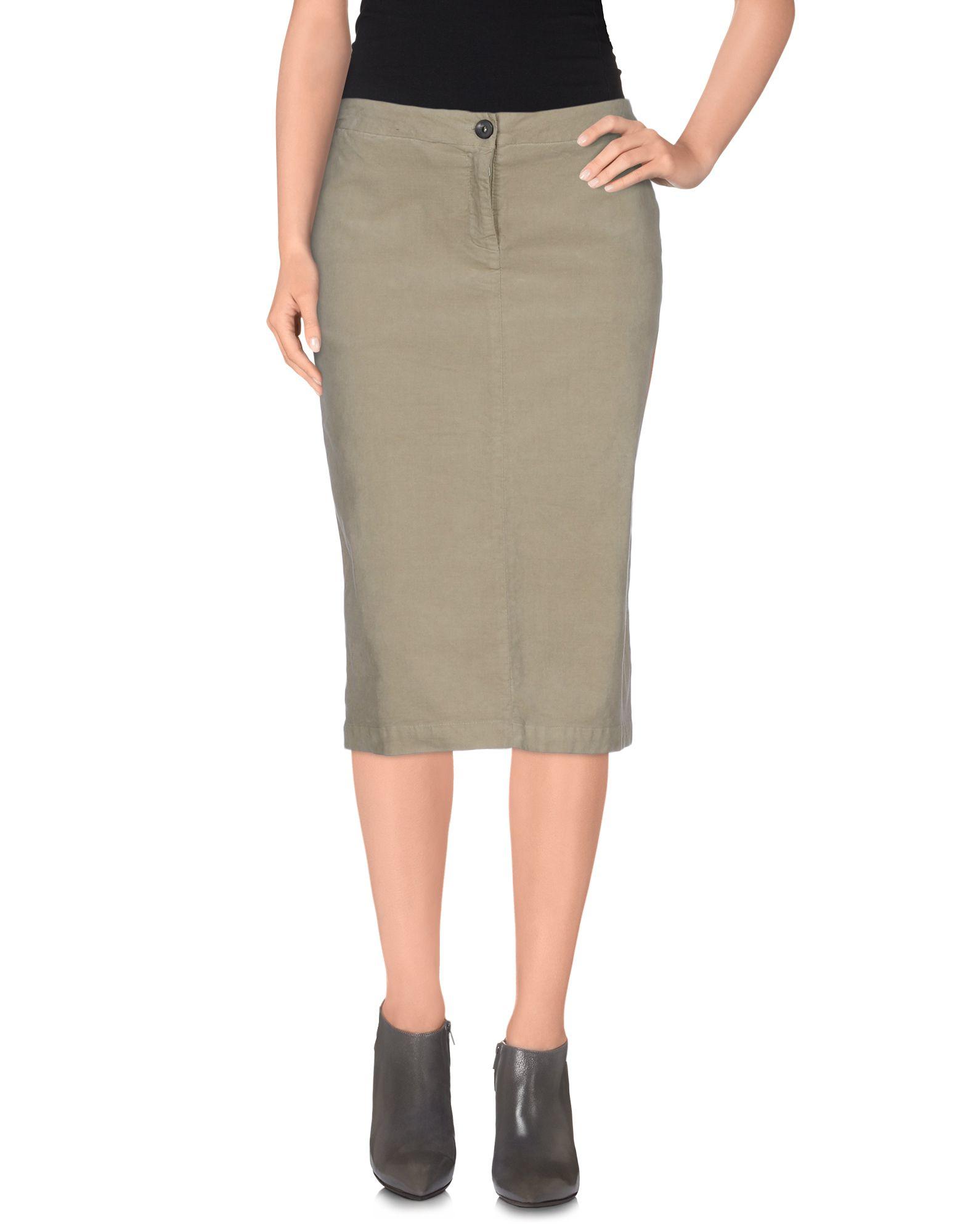 ottod ame knee length skirt in gray lyst