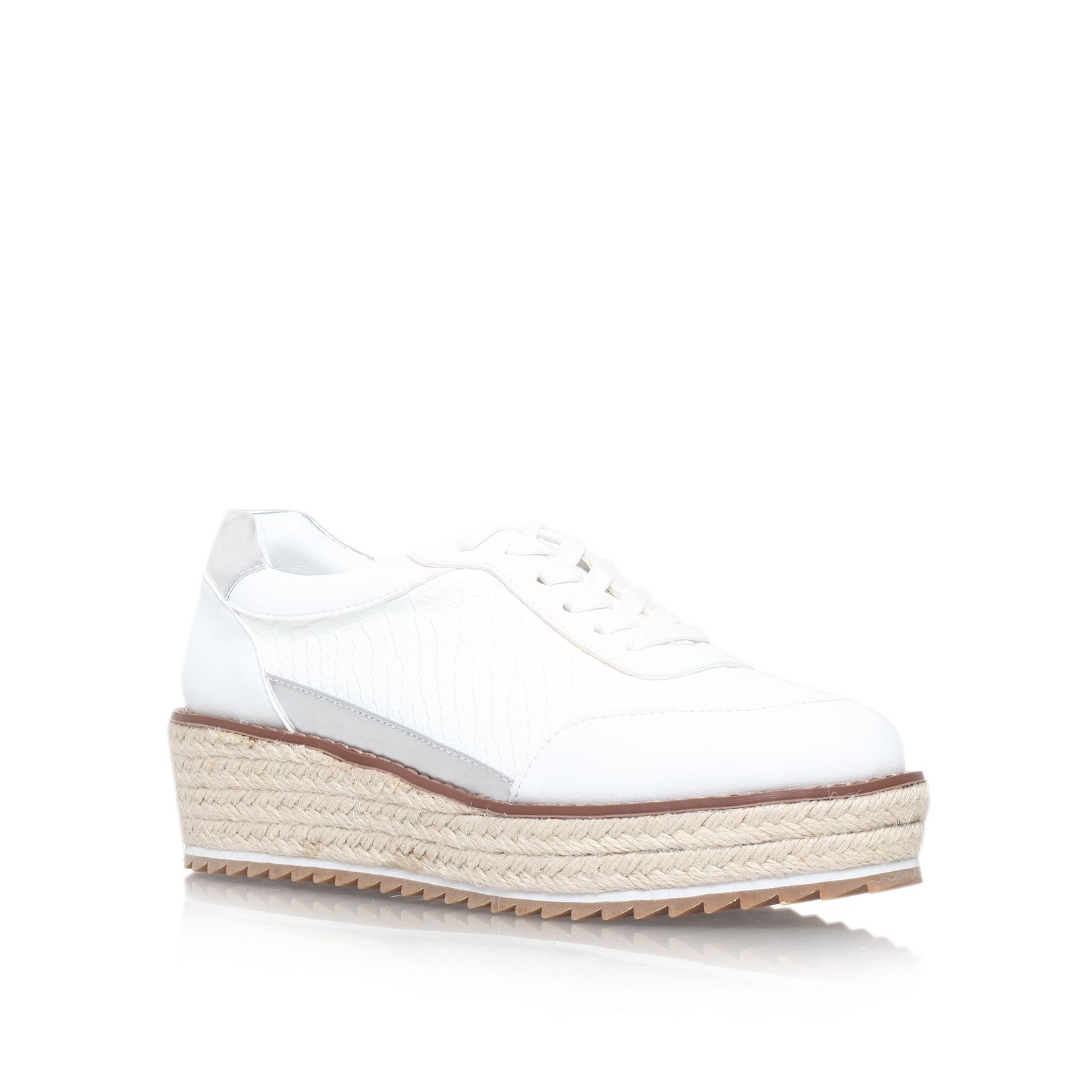 kg by kurt geiger lush flat platform lace up shoes in