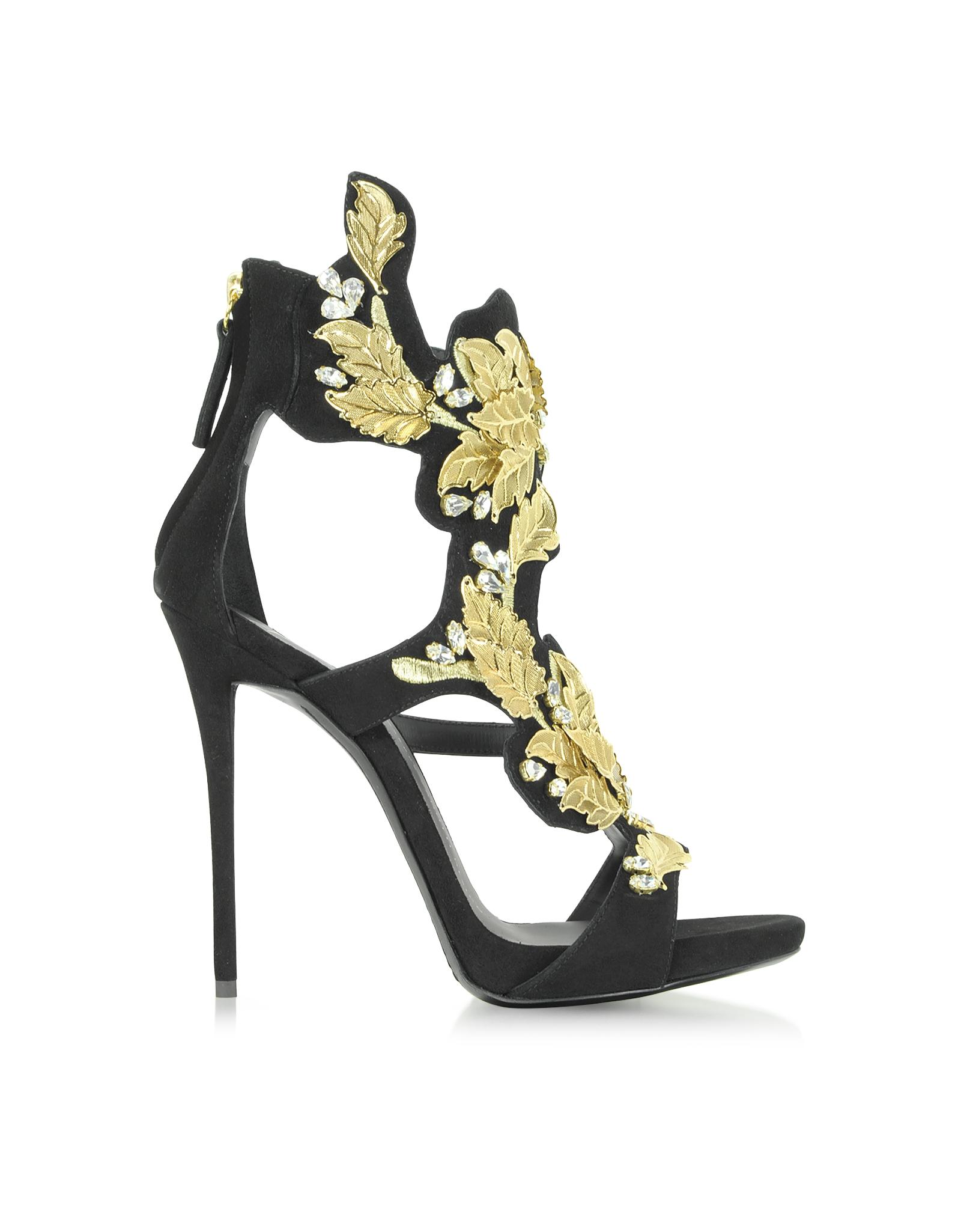 Lyst Giuseppe Zanotti Black Suede High Heel Sandal W