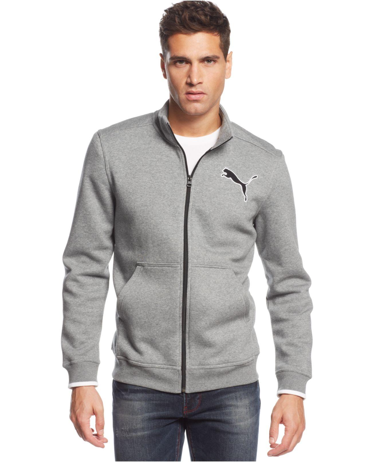 Puma Men&39s Fleece Full-zip Track Jacket in Gray for Men | Lyst