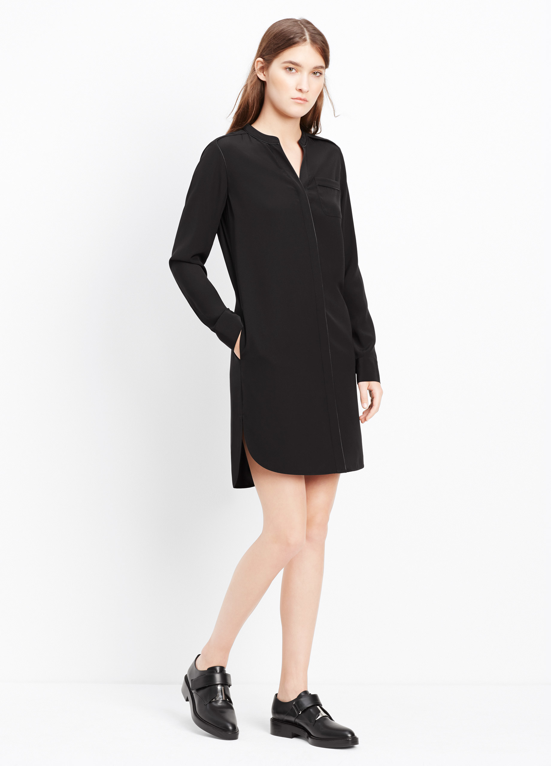8a443d2a99a6bd Black Silk Shirt Dress – EDGE Engineering and Consulting Limited