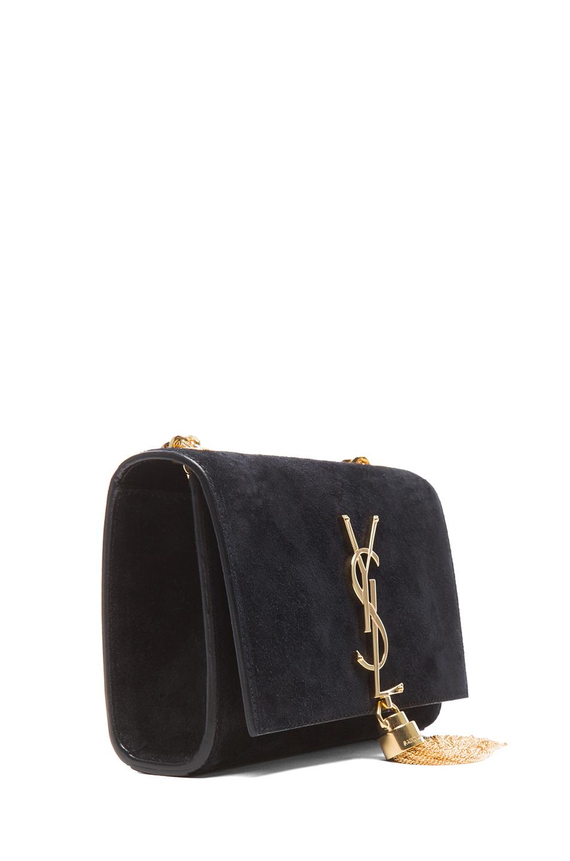 19e723ae43 Saint Laurent Black Small Monogramme Tassel Chain Bag
