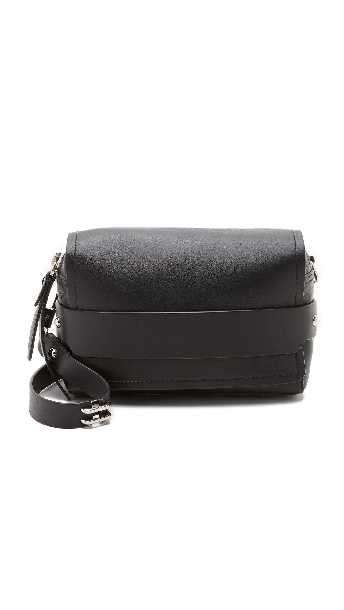 3.1 Phillip Lim Bianca Small Flap Cross Body Bag in Black