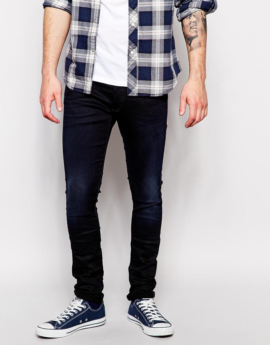 g star raw g star jeans 3301 super slim fit stretch dark aged in blue for men lyst. Black Bedroom Furniture Sets. Home Design Ideas
