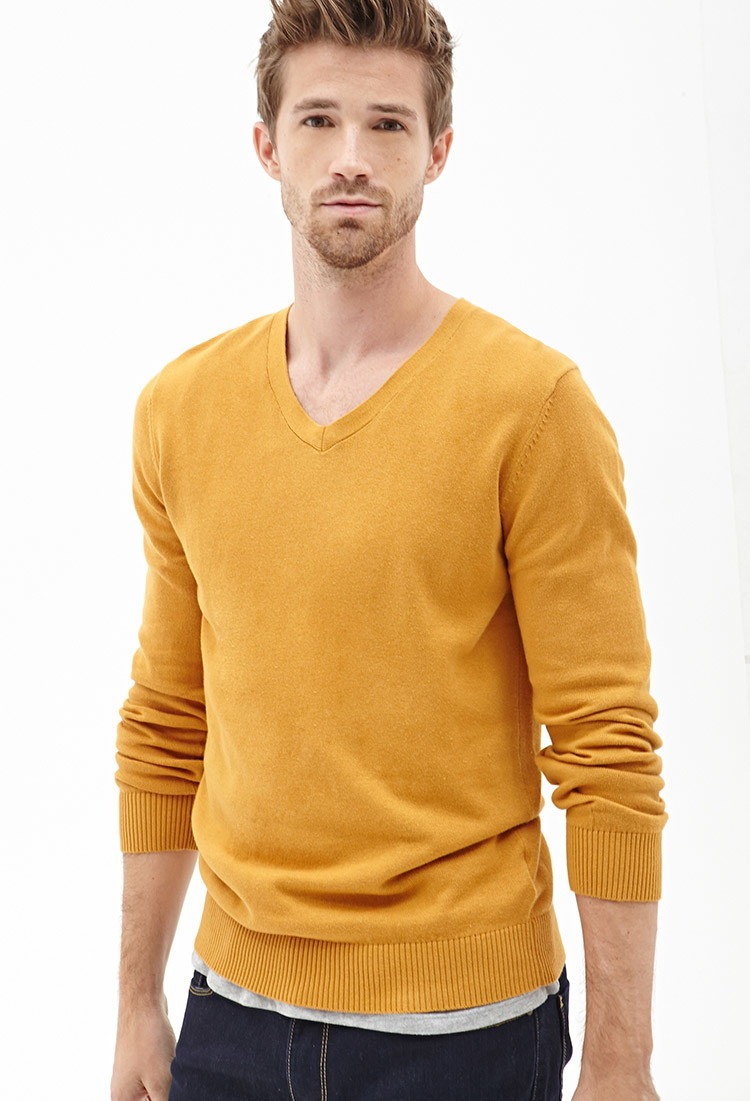 Forever 21 V-neck Knit Sweater You've Been Added To The Waitlist ...