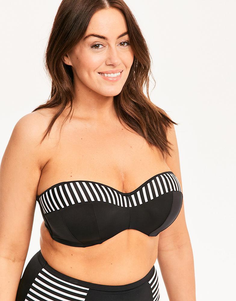 4cb53bb1a9e8b Elomi Malibu Days Underwired Bikini Top in Black - Lyst