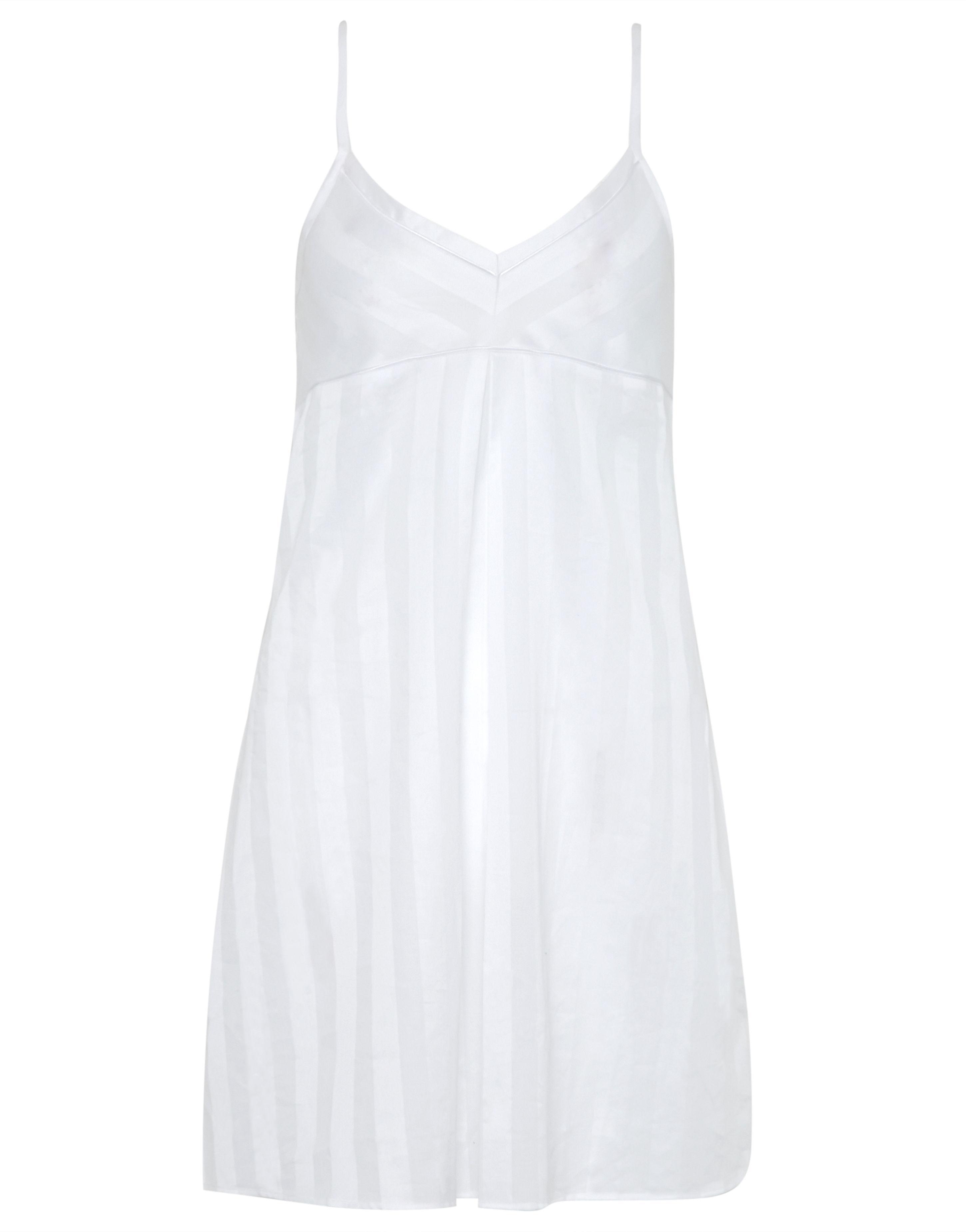 f4b3b7ee34 Bodas - White Cotton Nightwear Short Chemise - Lyst. View fullscreen