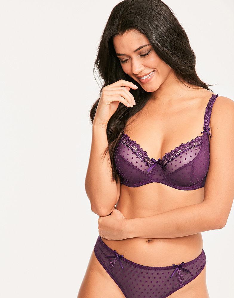 827405ed9 Curvy Kate Princess Balcony Bra in Purple - Lyst