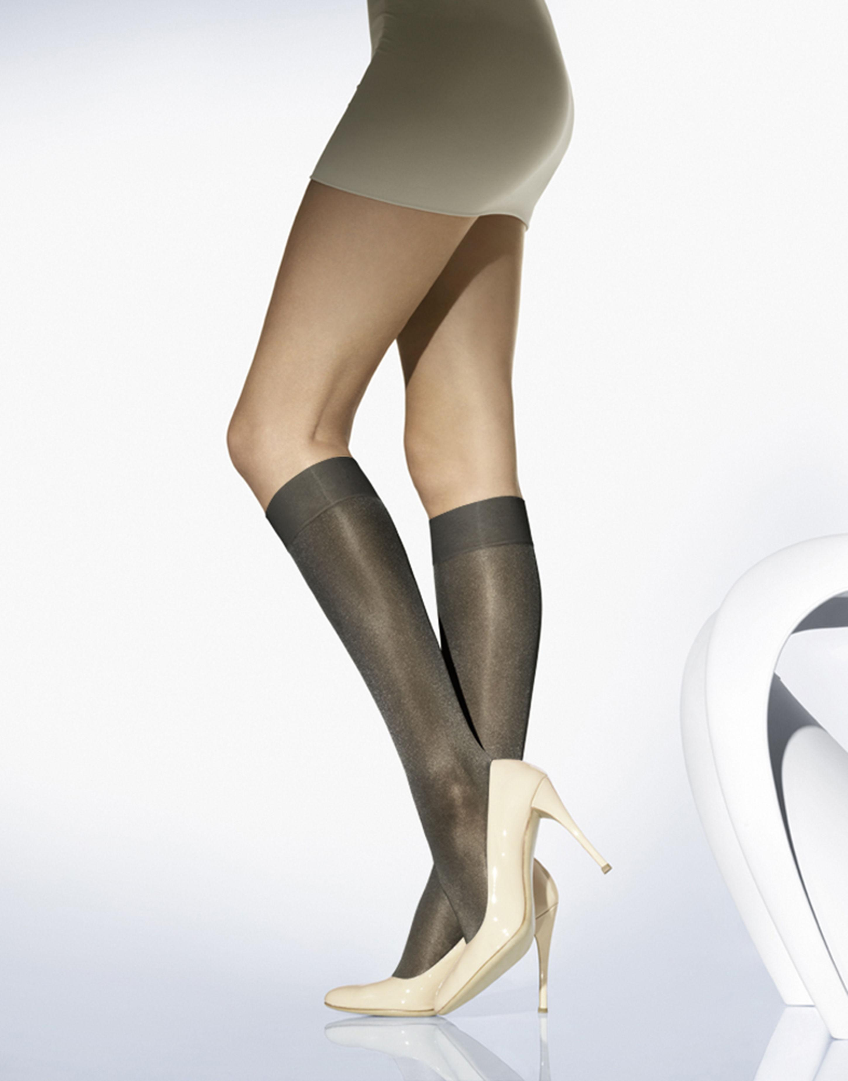 d6cf47dbc9b Wolford Satin Touch 20 Shiny Knee-highs in Black - Lyst