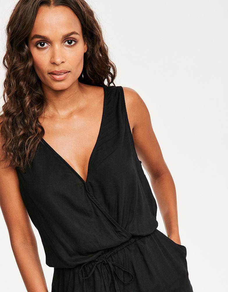 5ba379ecf0a9 Figleaves Luana Jumpsuit in Black - Lyst