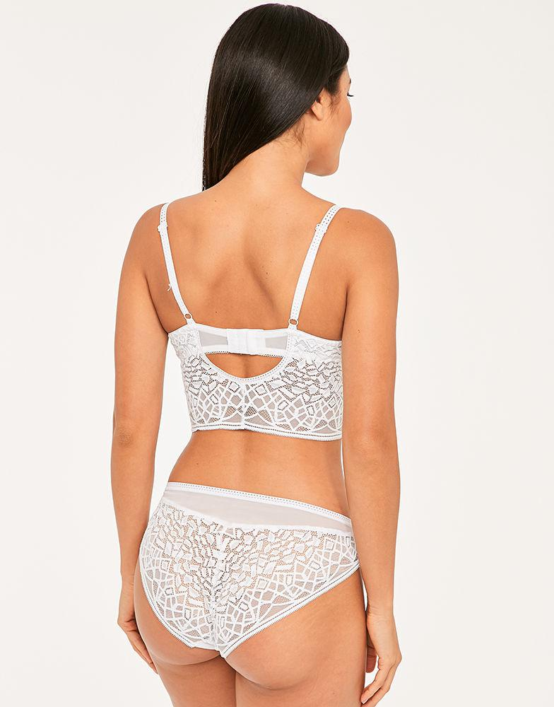 7554a0f0a1aa78 Freya Soiree Lace Underwire Bralette in White - Lyst