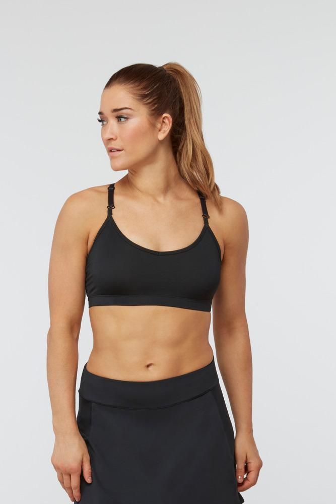 9fe2321ab5295 Lyst - Fila Skinny Back Bra in Black