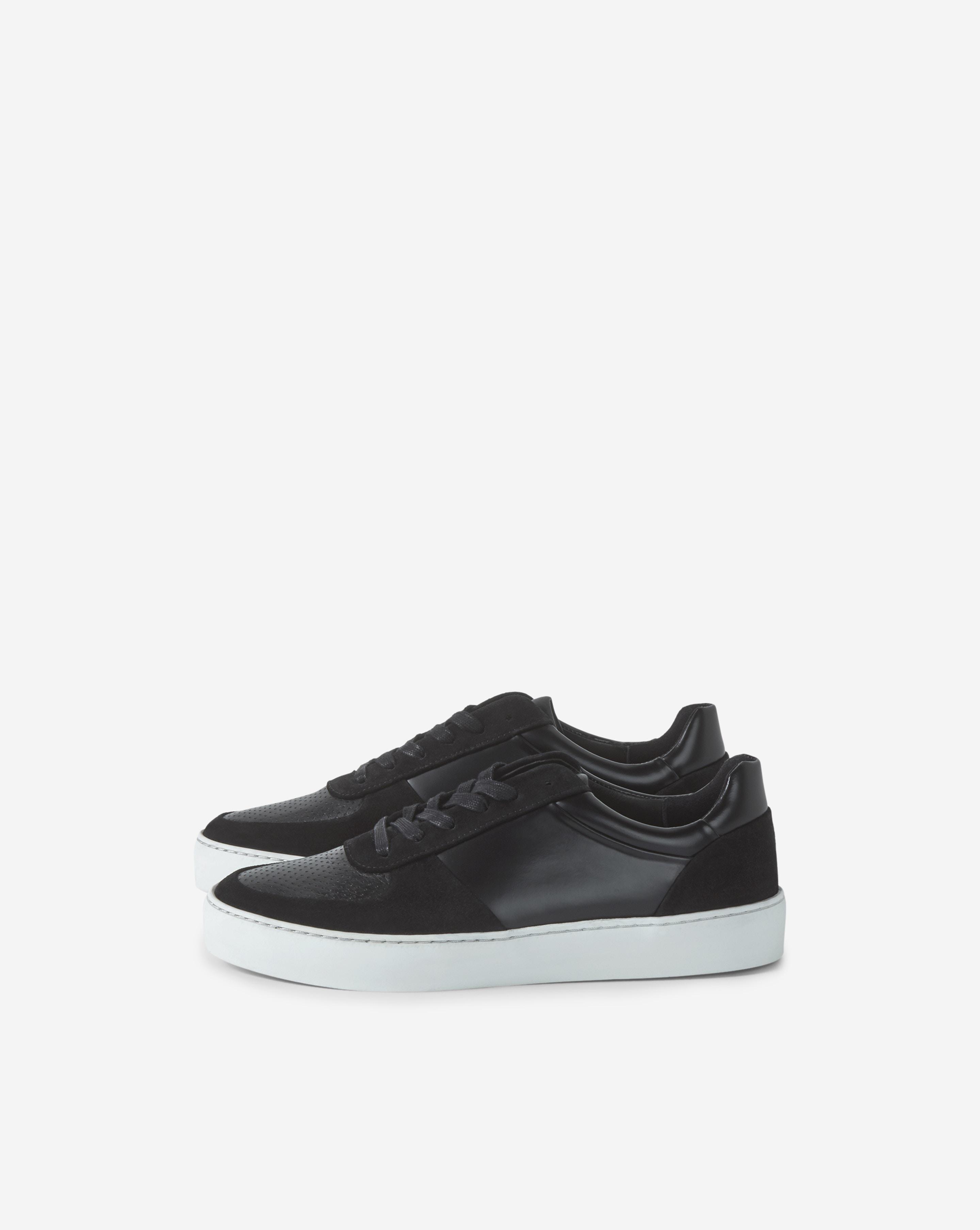 Filippa K Leather Donna Sneaker Black
