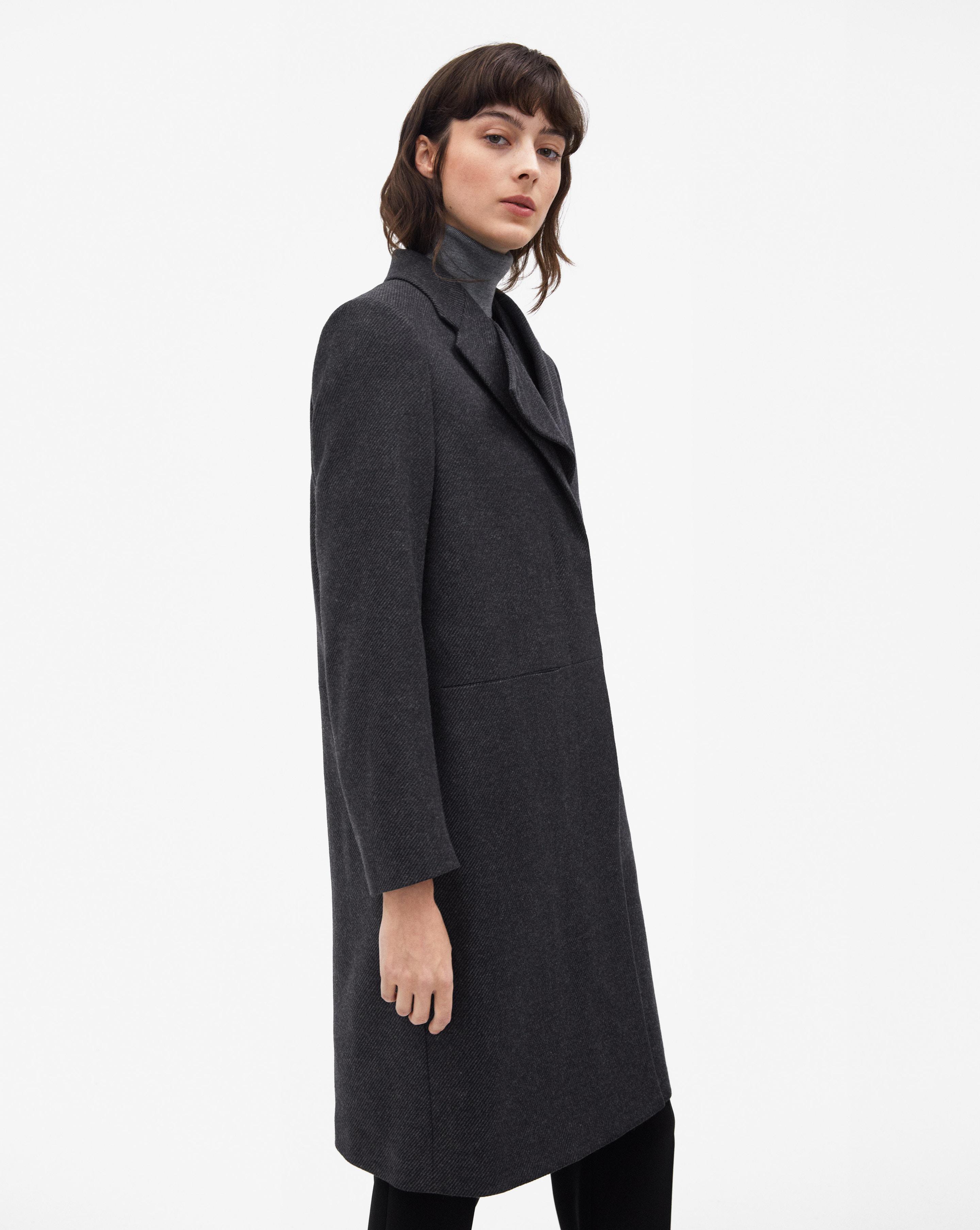 Lyst Runner Antracite Black Front Coat Filippa K In R86qzxZ0w