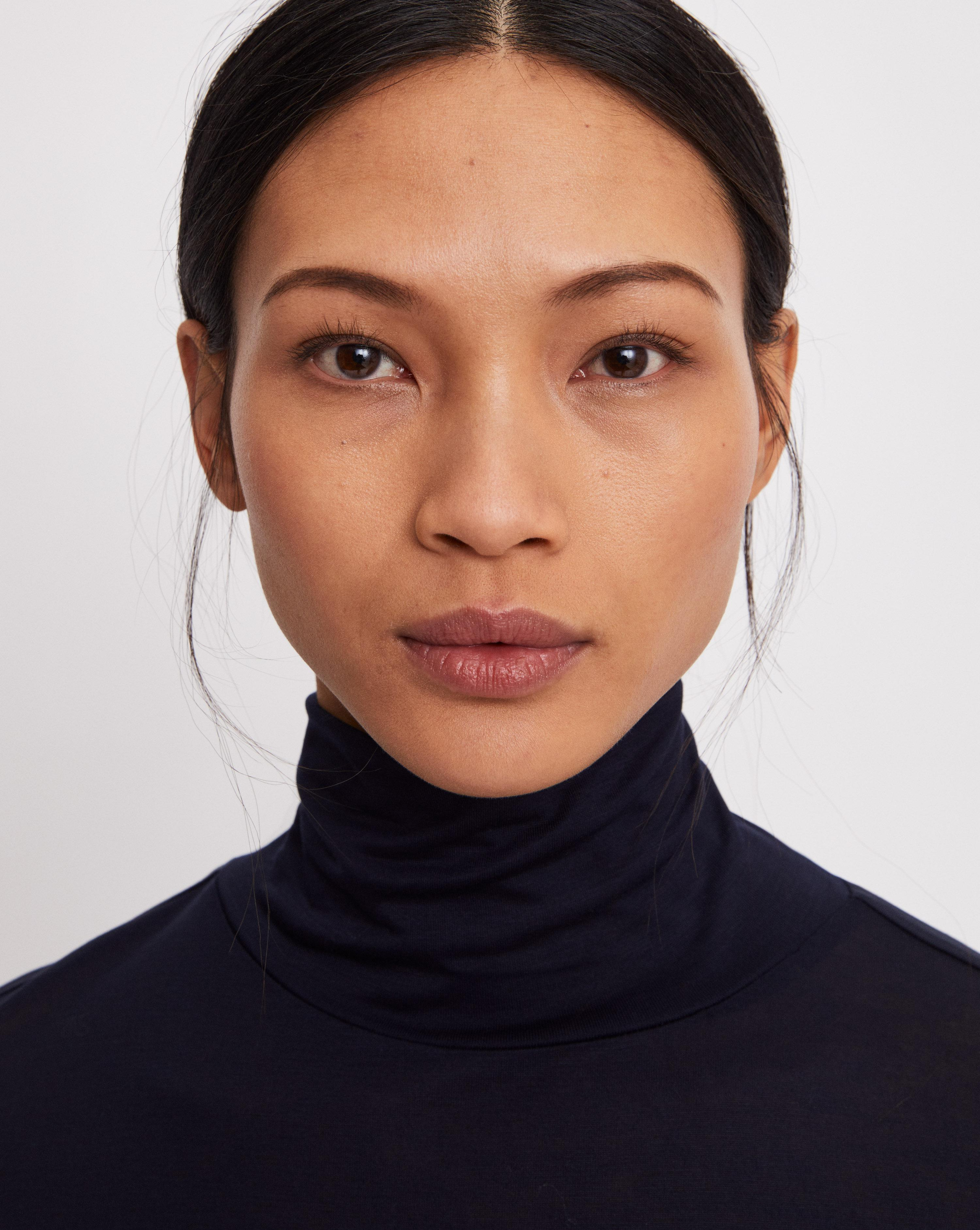 ... Polo Neck Top Navy - Lyst. View fullscreen