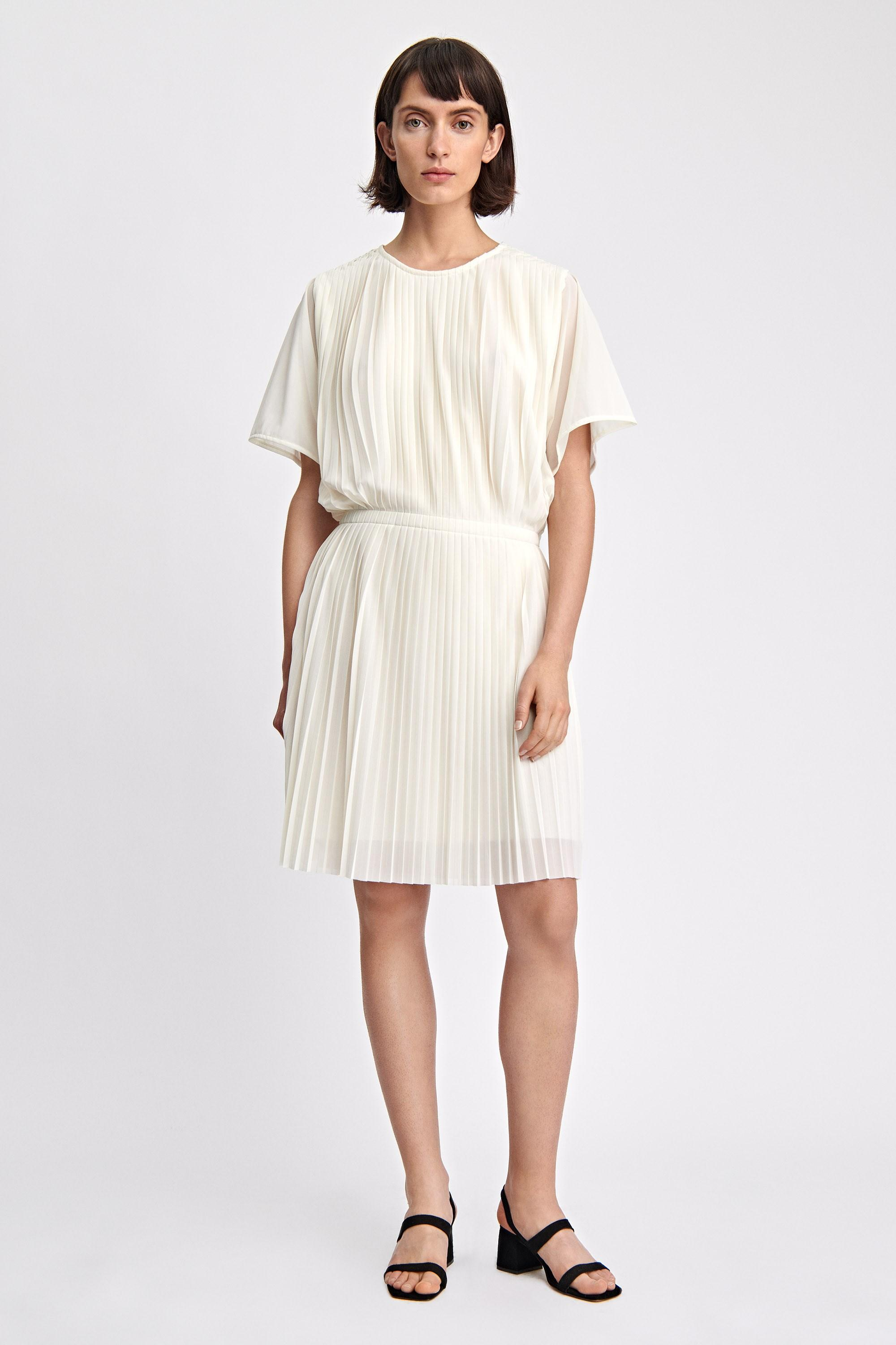 67c8beb69 Filippa K Pleated Dress in White - Lyst