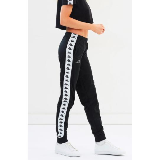 55968901b1 Kappa Women 222 Banda Wrastoria Slim Track Pants, Black/ White