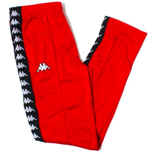 a000a92e4f Kappa Women 222 Banda Wrastoria Slim Track Pants, Red/ Black