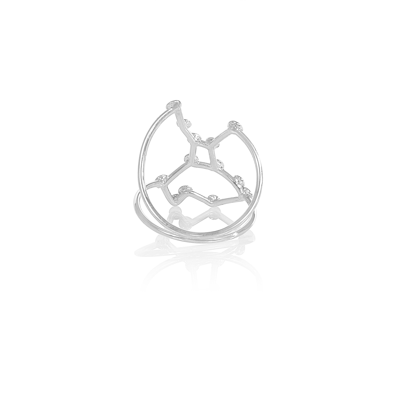 Jessie V E White Gold Virgo Ring 4Trjjxo6
