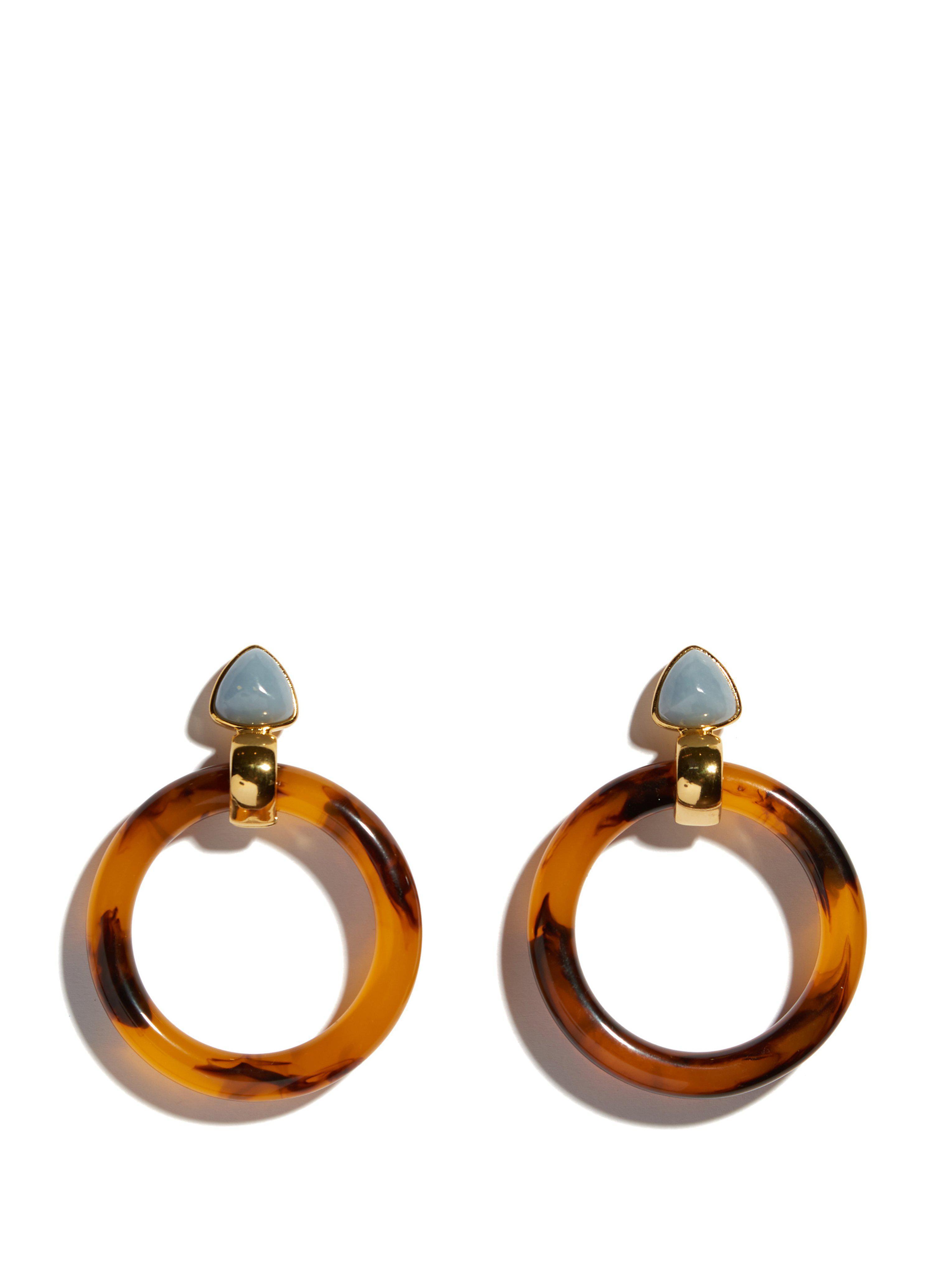 Lizzie Fortunato Sunset Tortoise Earrings iSc18DCOta