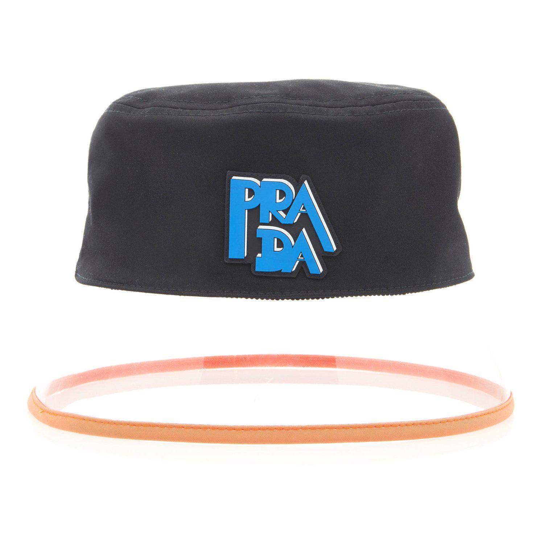 d3ab98fecf3 Lyst - Prada 90s Translucent Bucket Hat By