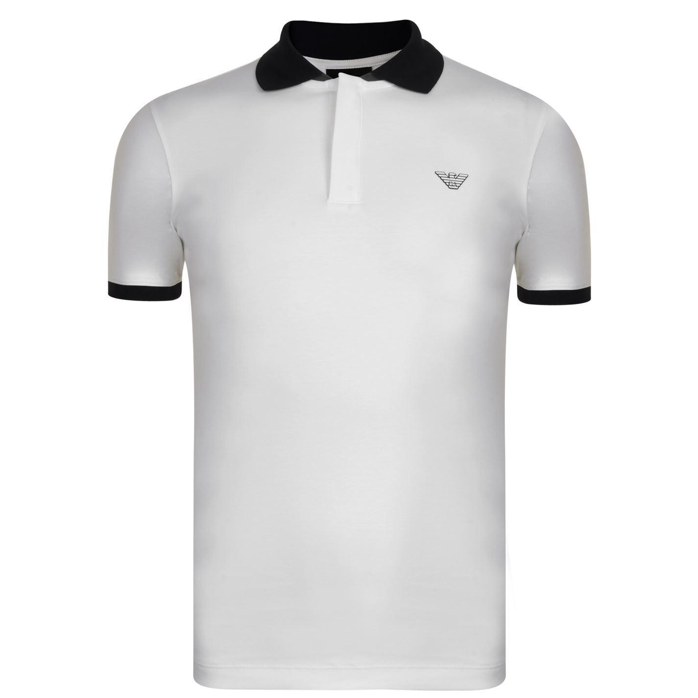 e36a398b Lyst - Emporio Armani Rubber Logo Polo Shirt in White for Men