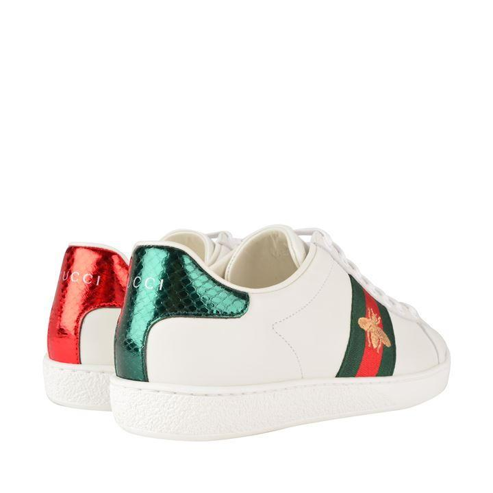 Gucci Leather New Ace Bee Embroidered