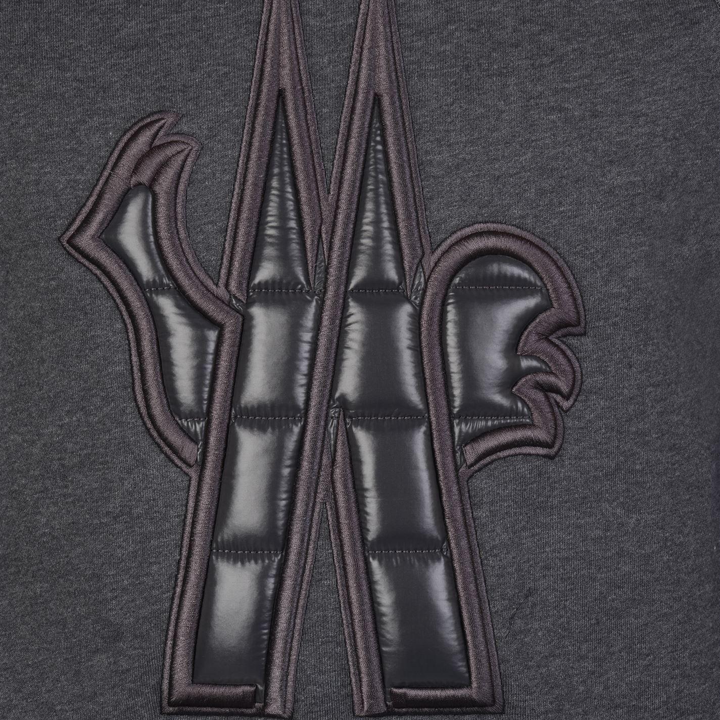 49e1ed721d69 Moncler Grenoble - Gray Crew Logo Sweatshirt for Men - Lyst. View fullscreen