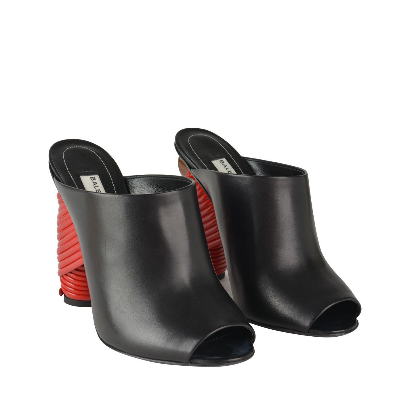2900693ee36f Balenciaga Bistrot 110mm Mule Black red in Black - Lyst