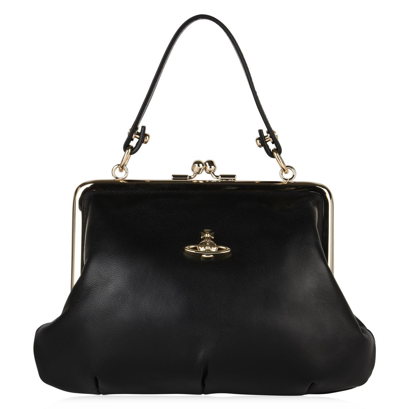 3e04488e2d4 Vivienne Westwood Emma Frame Purse Bag in Black - Lyst