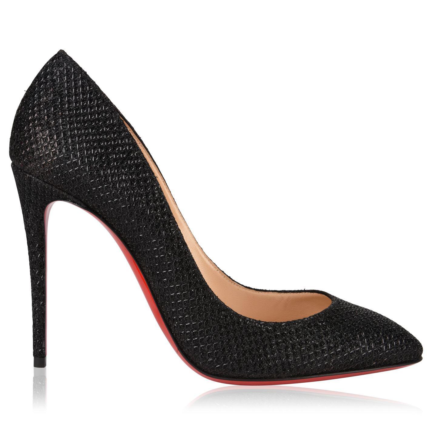 5d6529fdc743 Christian Louboutin Eloise Glitter Heels in Black - Lyst