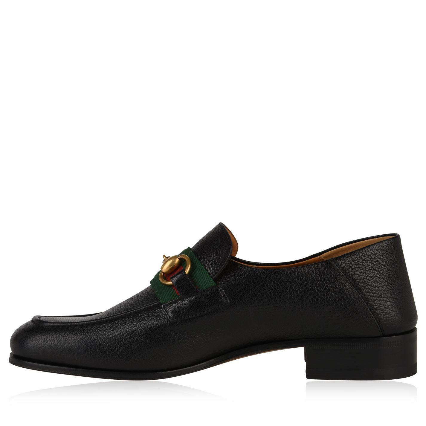 c315c55eb Gucci - Black Leather Horsebit Loafer for Men - Lyst. View fullscreen