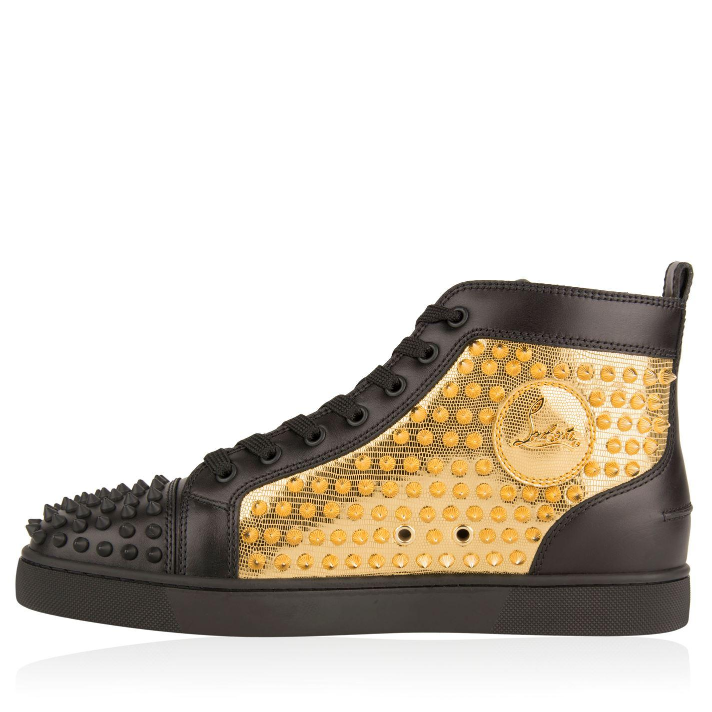 lowest price 08eb4 675bc Christian Louboutin Leather Yang Spike High Top Trainers in ...