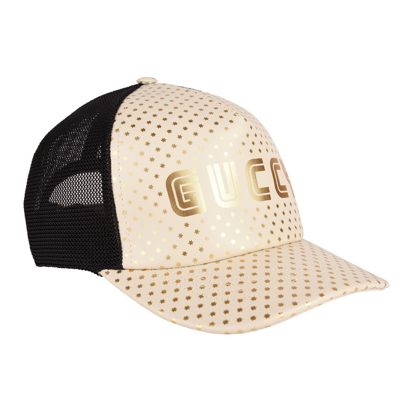 63f057a9f90 Gucci - White Guccy Cap for Men - Lyst. View fullscreen
