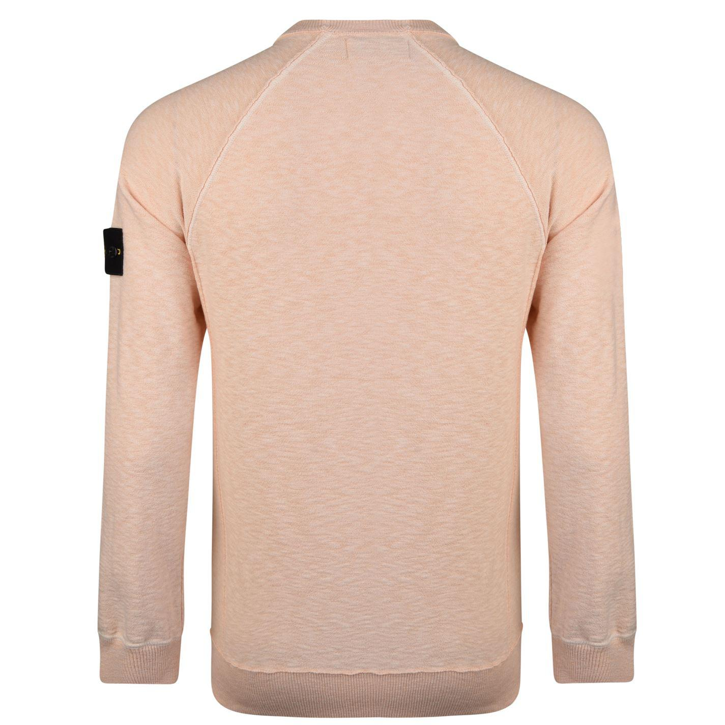 Stone Island Cotton Badge Knit Jumper in Pink for Men