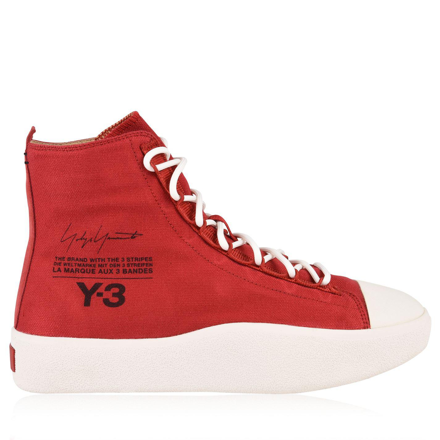 616b1b7ca Lyst - Y-3 Bashyo High Top Trainers in Red for Men